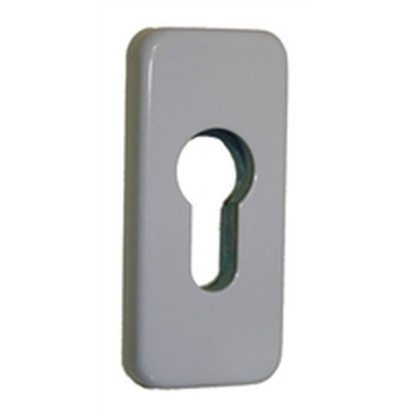 schiebeschutzrosette f r met t ren eckig 460 09 wei 9016 9 mm st 10 50. Black Bedroom Furniture Sets. Home Design Ideas