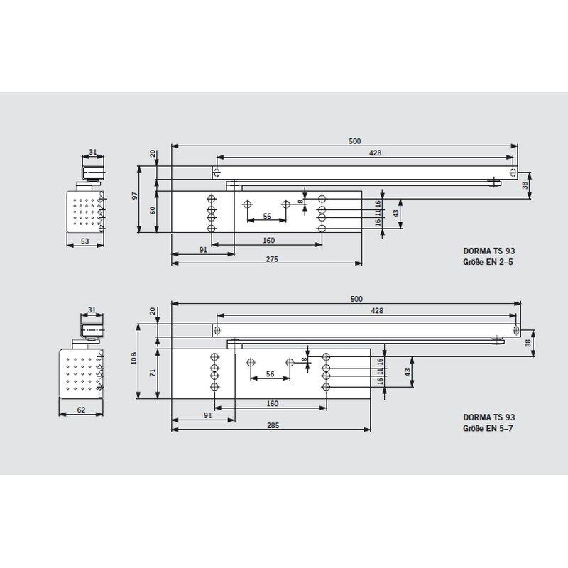 dorma ts 93 b t rschlie er en 2 5 im contur design 209 44. Black Bedroom Furniture Sets. Home Design Ideas